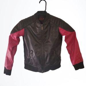 Yoki NY Girls Faux Leather Motorcycle Biker Coat